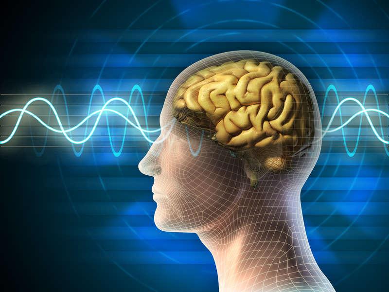 Symboldarstellung Frequenztherapie und Hirnströme